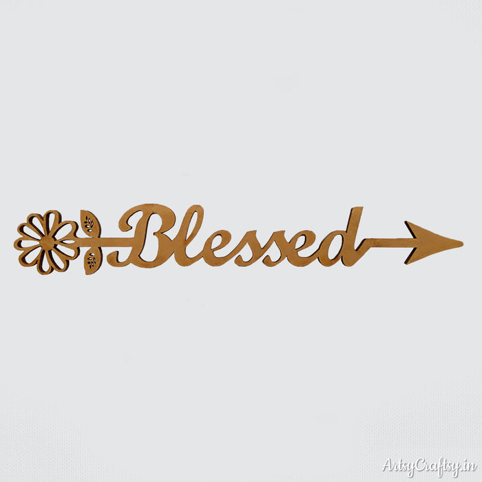 Blessed Arrow Word Sentiment cutout