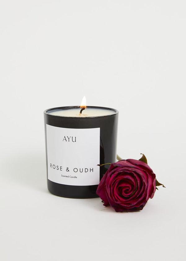 Candle Rose and Oudh