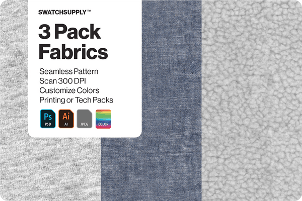 3 Pack Fabric Textures