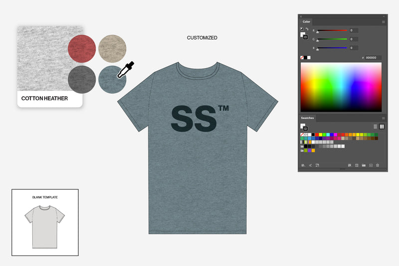 T-Shirt Tech Pack Template