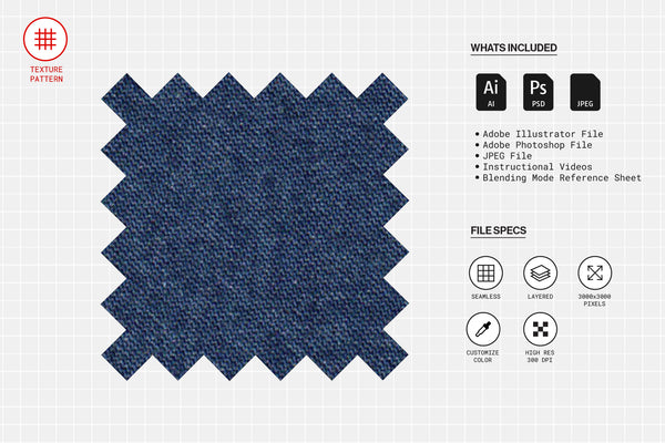 Dark Chambray Fabric Texture