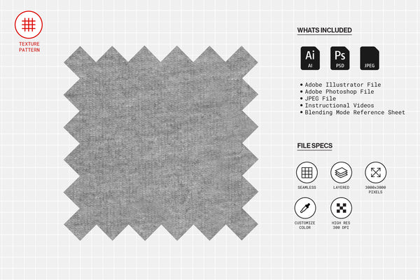 Grey Heather Fabric Texture