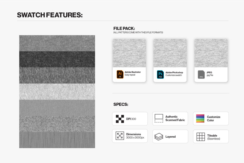 7 Pack Fabric Textures