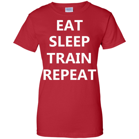 Image of EAT SLEEP TRAIN REPEAT Ladies'