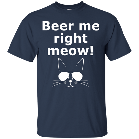 Image of Beer Me Right Meow T-Shirt