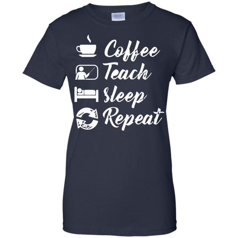 Image of Coffee Teach Sleep Repeat T-Shirt