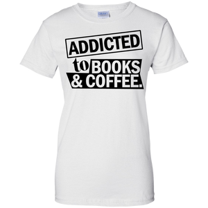 Adicted To Books & Coffee Ladies' T-Shirt
