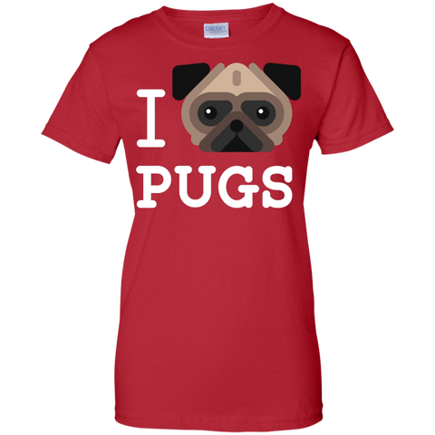 Image of I Love Pugs T-Shirt