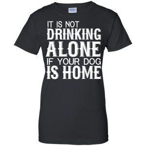 Drinking Alone ladies T-Shirt