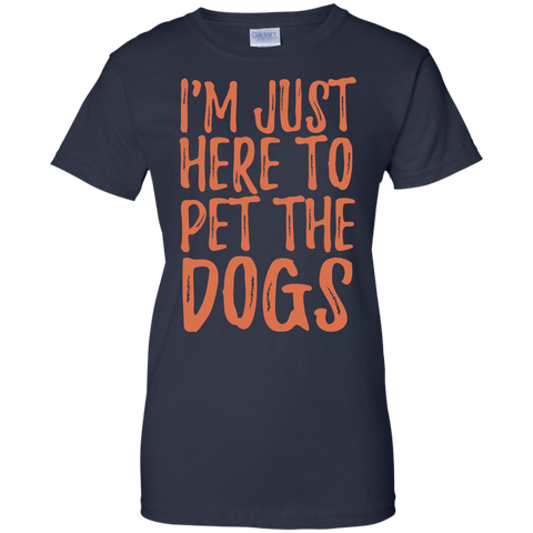 Image of Just Here To Pet The Dogs T-Shirt