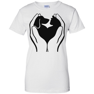 Love for Cats & Dogs Ladies' T-Shirt