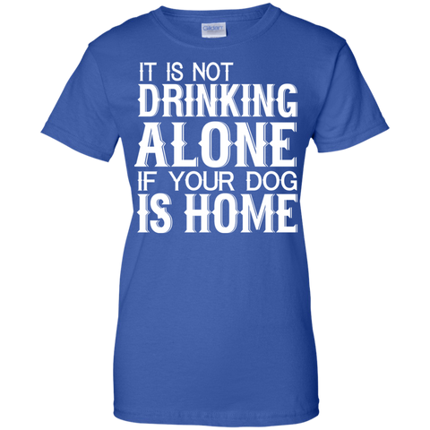 Image of Drinking Alone ladies T-Shirt