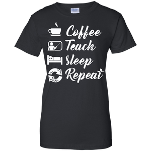Coffee Teach Sleep Repeat T-Shirt