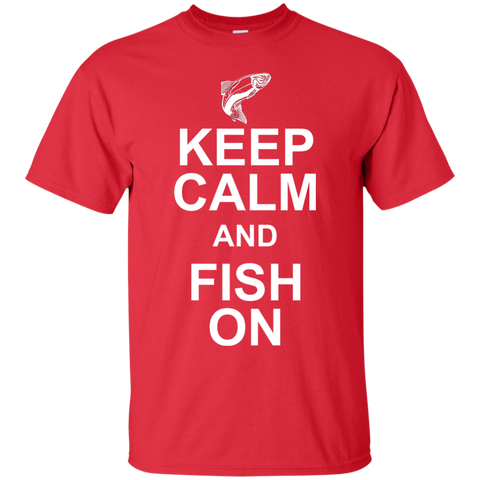 Image of Keep Calm And Fish On T-Shirt