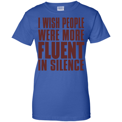 Image of I Wish People Were Fluent In Silence T-Shirt