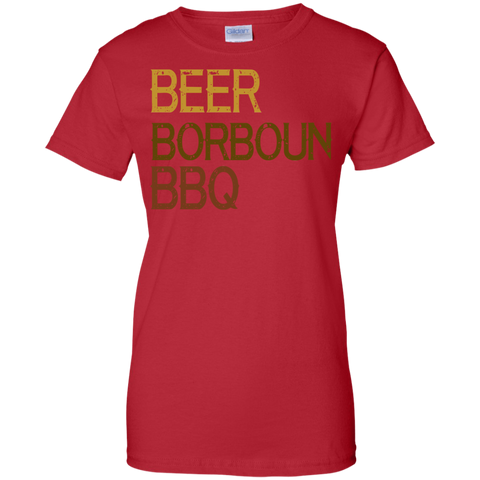 Image of Beer Bourbon BBQ T-Shirt