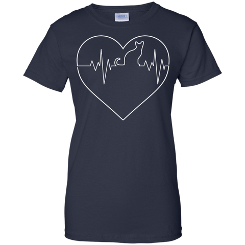 Image of My Heart Beats 4 Cats Ladies T-shirt