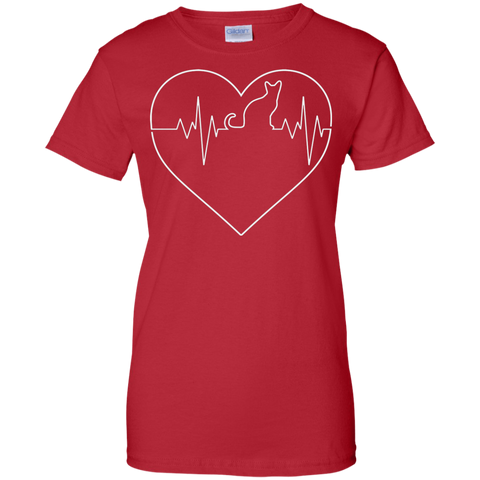 My Heart Beats 4 Cats Ladies T-shirt