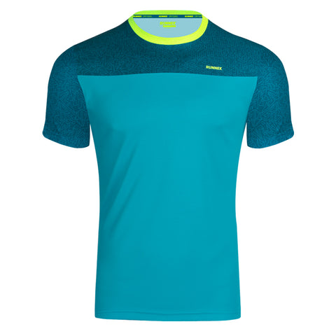 Maillot Homme Cube turquoise RUNNEK