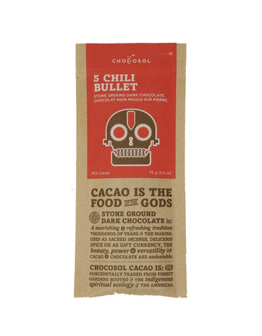 CHOCOSOL CHOCOLATE: 5 CHILI BULLET