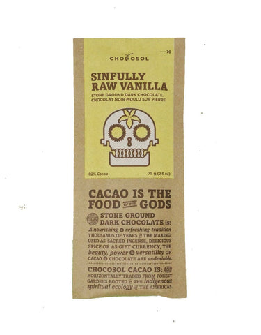 CHOCOSOL CHOCOLATE: SINFULLY RAW VANILLA