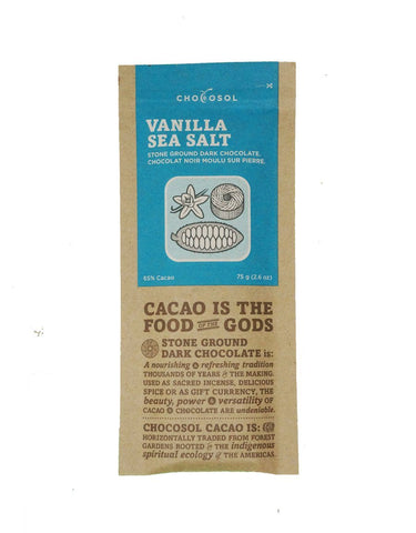 CHOCOSOL CHOCOLATE: VANILLA SEA SALT