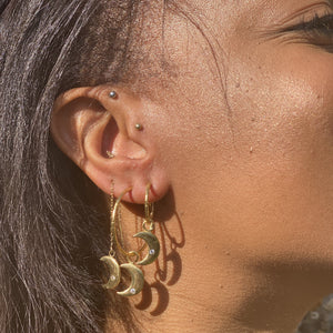 The Monday Earrings-Gold
