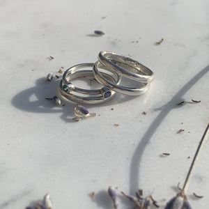 Tavia, Jasper And Levi Stacking Ring Set