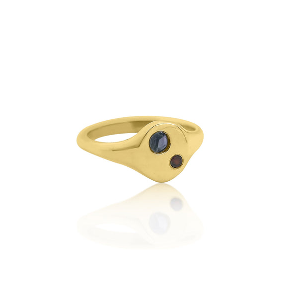 Nia Oval Signet Ring