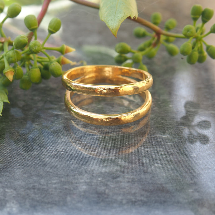 Tavia Double Ring - Gold