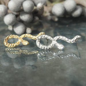 The Kaa Earrings-Silver