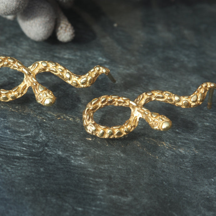 The Kaa Earrings-Gold