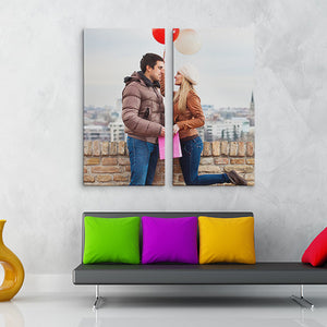 2 Pieces  Custom Canvas Prints With Your Own Pictures Personalised Canvas Prints Wall Art - Canvas Print Sale