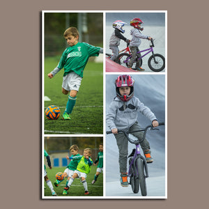 4 Photo Collage Canvas Portrait - Canvas Print Sale