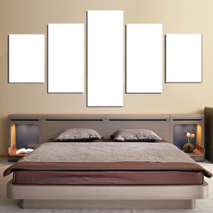 5 Panels Canvas Prints Bed Room - Canvas Print Sale