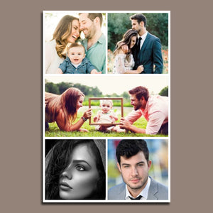 5 Photo Collage Canvas Portrait - Canvas Print Sale