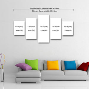 "5 Piece Canvas 32"" x 60"" (80x150cm) - Canvas Print Sale"