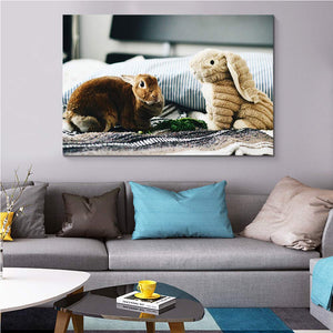 Custom Canvas Prints with Your Own Photos for Pet/Animal Personalised Canvas Wall Art - Canvas Print Sale