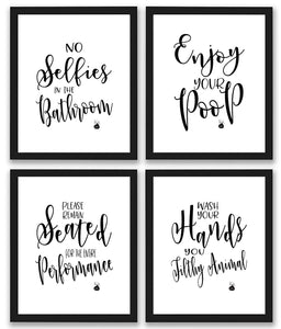 Bathroom Quotes and Sayings Art Prints - Canvas Print Sale
