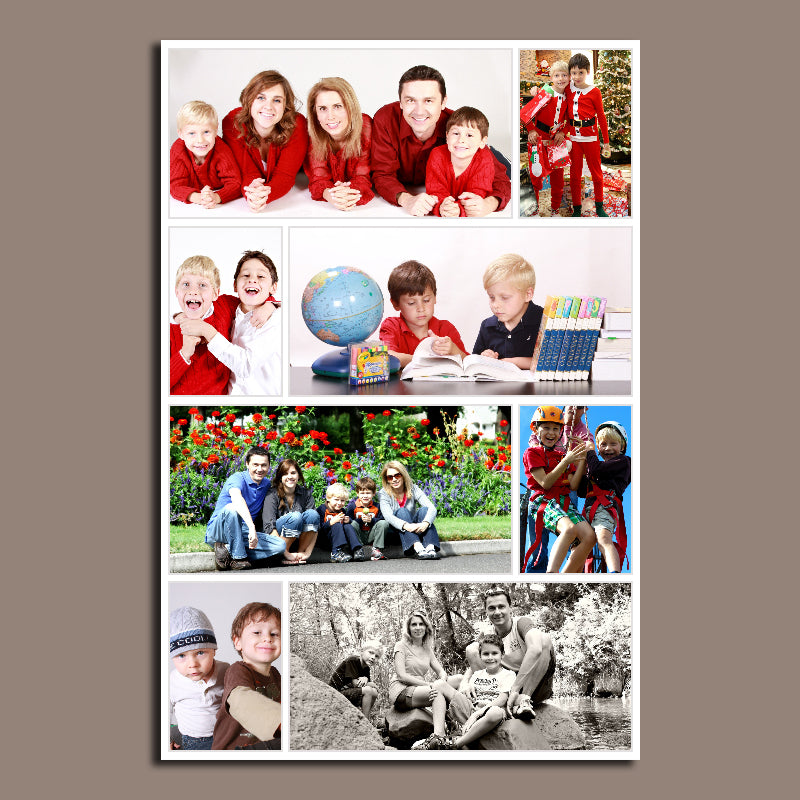 8 Photo Collage Canvas Portrait - Canvas Print Sale