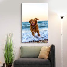Load image into Gallery viewer, Print Your Pet Dog Cat Horse 's Photo On Canvas Prints Personalised Photo to Canvas Print Wall Art - Canvas Print Sale