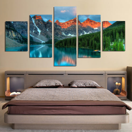 Alberta Lake Canvas Prints Home Decor Wall Art