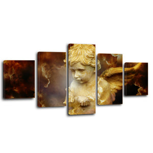 Cherub Religion Spirit Divine Heavenly Angel Canvas Prints Wall Art Home Decor - Canvas Print Sale