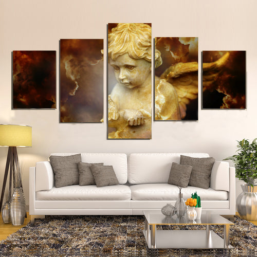 Cherub Religion Spirit Divine Heavenly Angel Canvas Prints Wall Art Home Decor