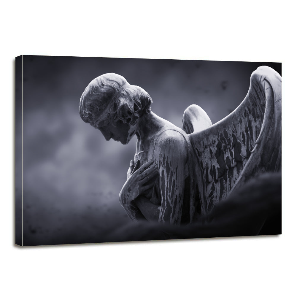 Angel Gloomy Moon Canvas Prints Wall Art Home Decor - Canvas Print Sale