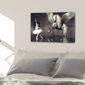 Dance Ballet Elegant Girl Dancer Horse Wing Hall Canvas Prints Home Decor Wall Art - Canvas Print Sale