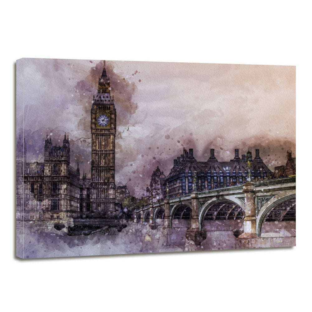 UK City London Metropolitan Britain Landmark Canvas Prints Wall Art Home Decor - Canvas Print Sale