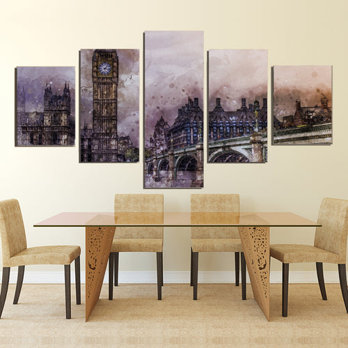 UK City London Metropolitan Britain Landmark Canvas Prints Wall Art Home Decor