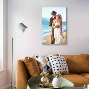 Custom Your Photos On Canvas Personalised Photo to Canvas Prints Wall Art Vertical - Canvas Print Sale