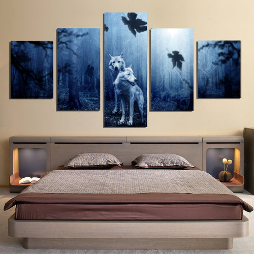 Dark Forest Wolf Predator Canvas Prints Home Decor Wall Art